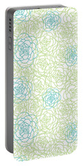 Floral Lines Portable Battery Charger by Susan Claire