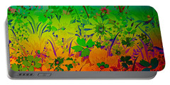 Portable Battery Charger featuring the photograph Floral Rainbow by Judy Palkimas