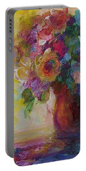 Floral Still Life Portable Battery Charger