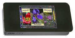 Portable Battery Charger featuring the photograph Floral Tenses by Larry Bishop