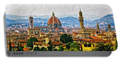 Florence Impasto Portable Battery Charger by Steve Harrington