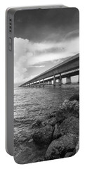 Florida Keys Seven Mile Bridge South Bw Vertical Portable Battery Charger