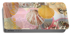 Florida Seashells Collage Portable Battery Charger