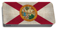 Florida State Flag Portable Battery Charger by Pixel Chimp
