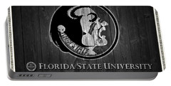 Florida State University Black And White Barn Door Portable Battery Charger