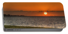 Florida Sunrise Portable Battery Charger by Jane Luxton