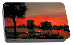 Portable Battery Charger featuring the photograph Florida Sunset by Hanny Heim