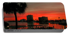 Florida Sunset Portable Battery Charger by Hanny Heim