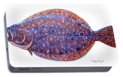 Flounder Portable Battery Charger by Carey Chen