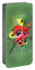 Flower Bunch Portable Battery Charger by Francine Heykoop