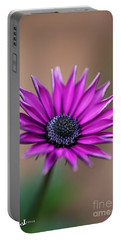 Flower-daisy-purple Portable Battery Charger
