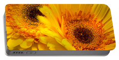 Portable Battery Charger featuring the photograph Flower Eyes by Steven Santamour