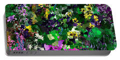 Portable Battery Charger featuring the digital art Flower Garden by David Lane
