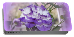 Portable Battery Charger featuring the photograph Flower In A Haze by Linda Prewer