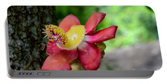 Flower Of Cannonball Tree Singapore Portable Battery Charger