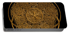 Flower Of Life Portable Battery Charger by Olga Hamilton