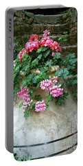 Portable Battery Charger featuring the photograph Flower Pot 8 by Allen Beatty