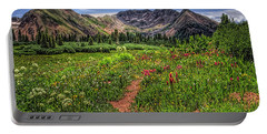 Flower Walk Portable Battery Charger by Priscilla Burgers
