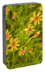 Portable Battery Charger featuring the painting Flowerfield by Go Van Kampen