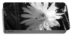 Flowering Cactus 1 Bw Portable Battery Charger by Mariusz Kula