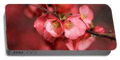Flowering Quince Portable Battery Charger