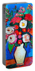 Flowers And Colors Portable Battery Charger by Ana Maria Edulescu