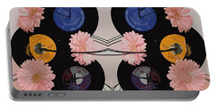 Flowers And Phonographs Portable Battery Charger by Nina Silver