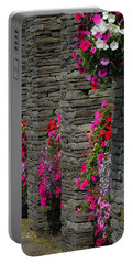 Flowers At Liscannor Rock Shop Portable Battery Charger