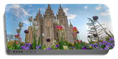 Flowers At Temple Square Portable Battery Charger