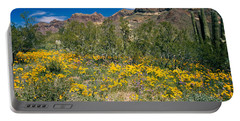 Flowers In A Field, Organ Pipe Cactus Portable Battery Charger