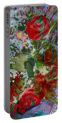 Portable Battery Charger featuring the digital art Flowers In Bloom by Liane Wright