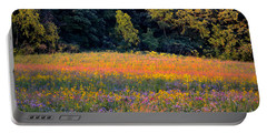 Flowers In The Meadow Portable Battery Charger