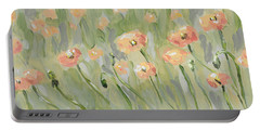 Portable Battery Charger featuring the painting California Poppies by Maria Langgle