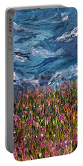 Portable Battery Charger featuring the painting Flowers Of The Field by Meaghan Troup