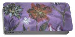 Flowers On Silk Portable Battery Charger