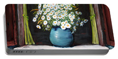 Flowers On The Ledge Portable Battery Charger