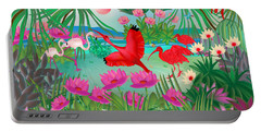 Flowery Lagoon - Limited Edition 1 Of 20 Portable Battery Charger