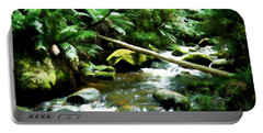 Flowing River Painting Portable Battery Charger