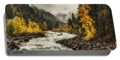 Flowing Through Autumn Portable Battery Charger