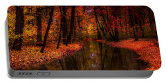 Flowing Through The Colors Of Fall Portable Battery Charger