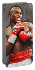 Floyd Mayweather Artwork Portable Battery Charger