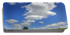 Fluffy Clouds Over Epsom Downs Surrey Portable Battery Charger