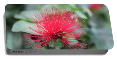 Portable Battery Charger featuring the photograph Fluffy Pink Flower by Sergey Lukashin