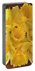Flurry Of Daffodils Portable Battery Charger by Diane Alexander