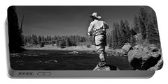 Portable Battery Charger featuring the photograph Fly Fishing The Box by Ron White