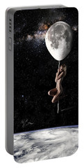 Fly Me To The Moon - Narrow Portable Battery Charger by Nikki Marie Smith
