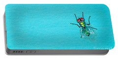 Fly On The Wall Portable Battery Charger by Stefanie Forck