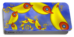 Portable Battery Charger featuring the digital art Jumping Fantasy Animals by Gabiw Art