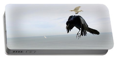 Flying Evil With Bad Intentions Portable Battery Charger by Richard Rosenshein
