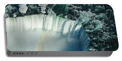 Flying Over Icy Niagara Falls Portable Battery Charger
